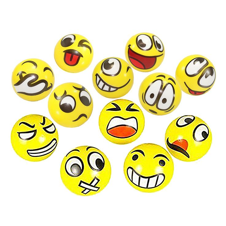 12pcs/lot Fun Emoji Face Squeeze Balls Modern Stress Ball Relax Emotional Hand Wrist Exercise Stress Toy Balls Toys for Children