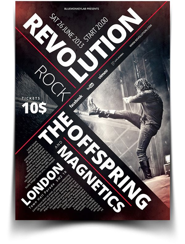 Rock Flyer / Poster 6 on Behance