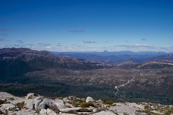 Central highlands of Tasmania. An old film slide scanned to make a digital copy.  http://aviewfinderdarkly.com.au/2015/06/10/scanning-old-slides-with-the-epson-v500/