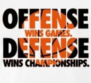 If you want to win games all you need is a team of offensive  players but if you trying to win a championship playing defense could help you.