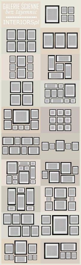 Gallery wall picture frame organization