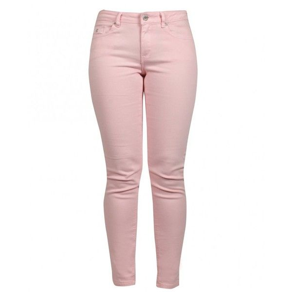 Maison Scotch La Bohemienne Mid Rise Skinny Jeans (19.225 HUF) ❤ liked on Polyvore featuring jeans, pants, bottoms, pink, maison scotch, pink skinny jeans, white jeans, mid-rise jeans and pink jeans