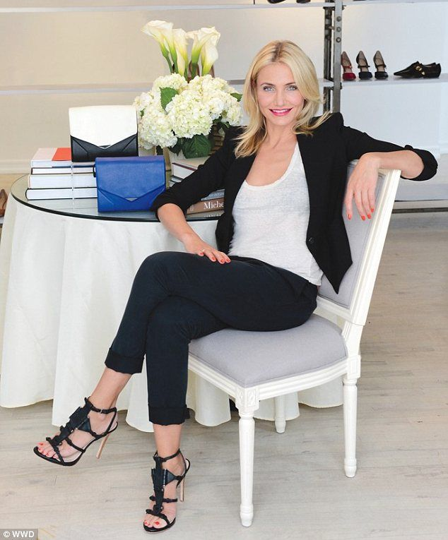 Everyday style: As Pour La Victoire's new artistic director, Cameron Diaz is most looking forward to developing a show collection of handbags  that is fashionable yet still 'functional'