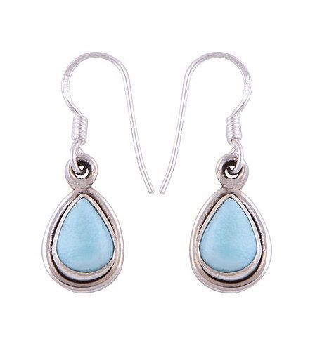 Natural Larimar Earrings - Handmade Solid 925 Sterling Silver Earrings - Larimar Jewelry Gift for Her Holiday Gifts Wedding Larimar Jewelry (scheduled via http://www.tailwindapp.com?utm_source=pinterest&utm_medium=twpin&utm_content=post24616270&utm_campaign=scheduler_attribution)
