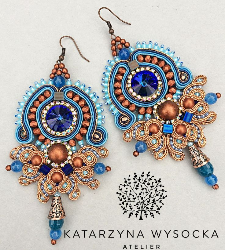 soutache earrings Atelier Magia by Katarzyna Wysocka