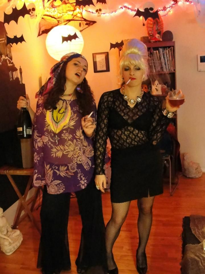 Our Halloween costumes from 2011: Patsy and Edina from Absolutely Fabulous.