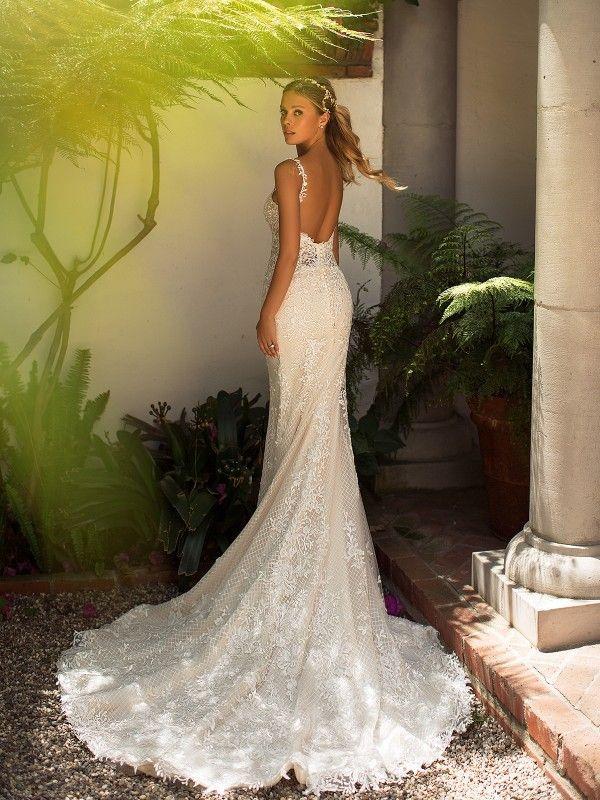 Lattice Lace Mermaid Wedding Dress Moonlight J6711 Lace Mermaid Wedding Dress Strappy Wedding Dress Elegant Wedding Dress