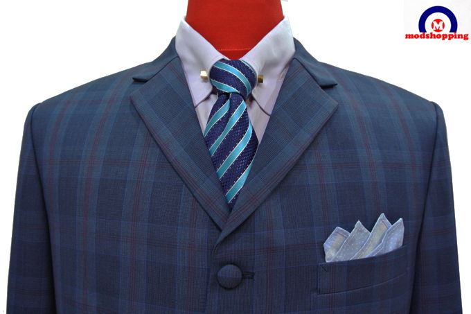 Modshopping - WINDOW CHECK NAVY BLUE WITH BURGUNDY SUIT , £229.00 (http://www.modshopping.com/window-check-navy-blue-with-burgundy-suit/)