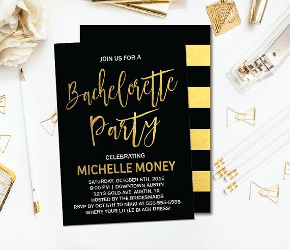 Best Bachelorette Invitations Images On