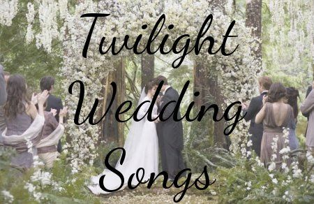 Yes I know its Twilight BUT this music is so amazing! This site also has tips for a country wedding and more wedding stuff