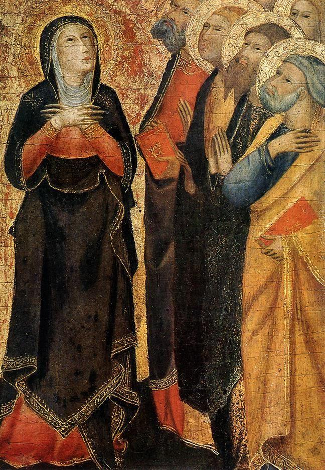 Andrea Vanni - Ascensione di Cristo, dettaglio - 1355-60 - Tempera su legno - The Hermitage, St. Petersburg