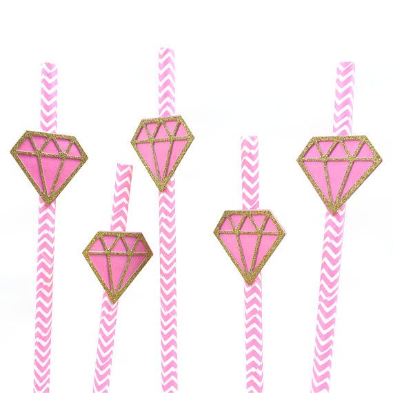 Complete your party with this diamond glitter on pink chevron paper straws. COLOR Choose in gold or silver glitter diamond. Glitter cardstock made from shed free cardstock and white on the reverse side. QUANTITY This listing is for 12 pcs paper straws ONLY. ✏️Dont forget to put