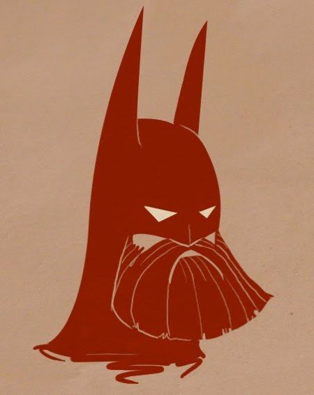 Bearded Batman.....turns out being clean shaven is, in certain circumstances, more intimidating.