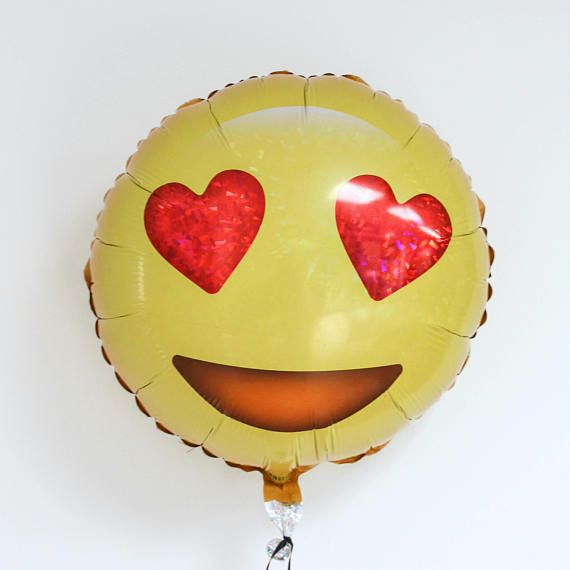 Check out this item in my Etsy shop https://www.etsy.com/ca/listing/511528342/emoji-heart-eyes-balloon