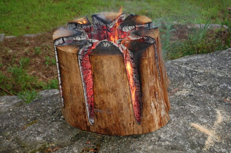 How to Make a Swedish Torch – All-Night Campfire with Only One Log