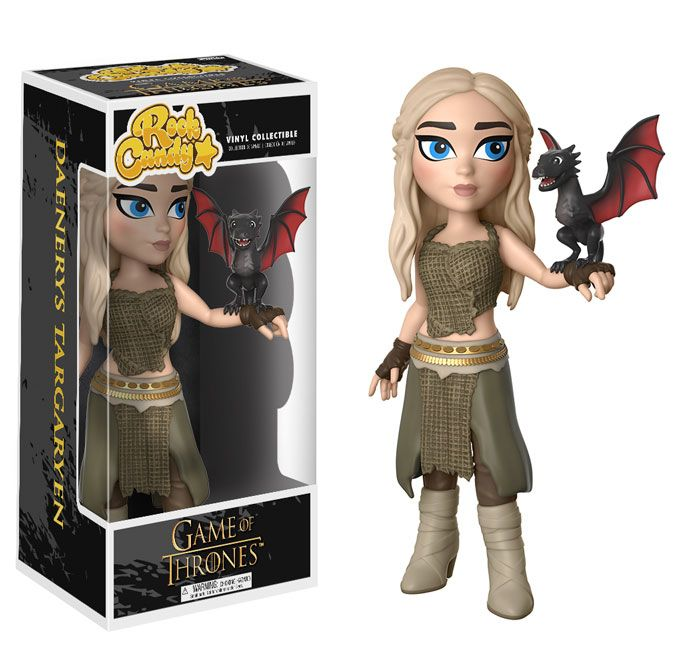 Fans of Funko's Game of Thrones® figures will now haveeven more characters to collect when the newest series ofDorbz, Rock Candy, and a Pop! 2-pack release this summer. Dorbz: Game of ThronesThe newest series of Dorbz features an adorabletake on beloved characters from the hit HBO® serieslike Cersei and Jaime Lannister,Arya Stark, Jon Snow, and Melisandre.Be on the lookout for the limited Melisandrechase edition: Only 1- in-6 Melisandre Dorbz produced will glow red! Coming in August! Rock…