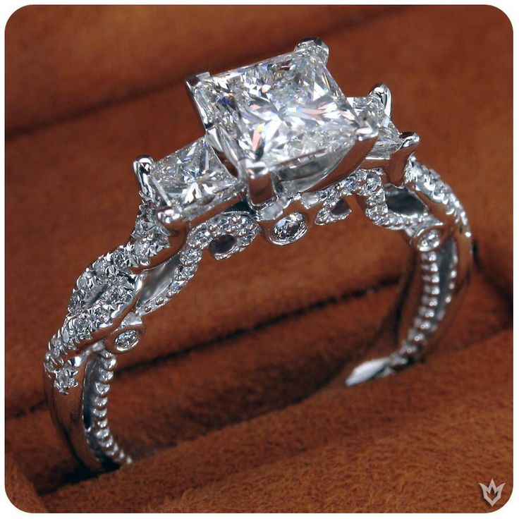 Dear future husband, it's not that difficult. Princess cut; past, present, and future ring. Now it can really be a surprise when you propose. You're welcome.