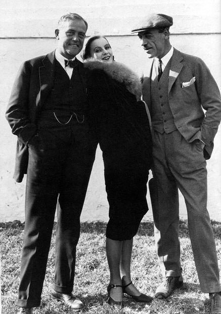 Victor Sjöström, Greta Garbo and Mauritz Stiller. 1926