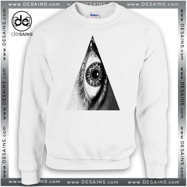 Cheap Graphic Sweatshirt Triangle Eye hipster indie Illuminati Symbol //Price: $24 Gift Custom Tee Shirt Dress //     #Desains #Tees #Shirt #Dress