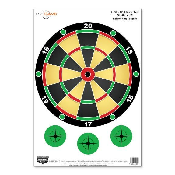 Fun for all ages! Improve your shooting skills with these colorful Dirty Bird style targets. Each shot will halo white so you instantly know where your shot has hit. Use them while shooting alone or appeal to your competitive side and try to beat your shooting partner! Play your favorite dart board games with Shotboard.