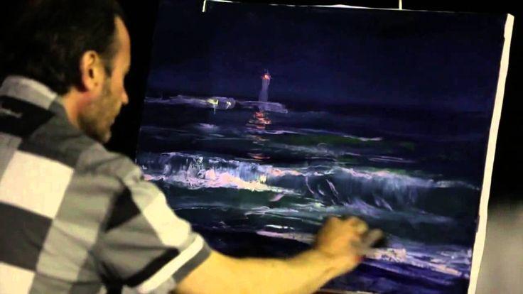 Как нарисовать море за 30 минут. Пленэр в Ялте. Игорь Сахаров. Холст/мас...