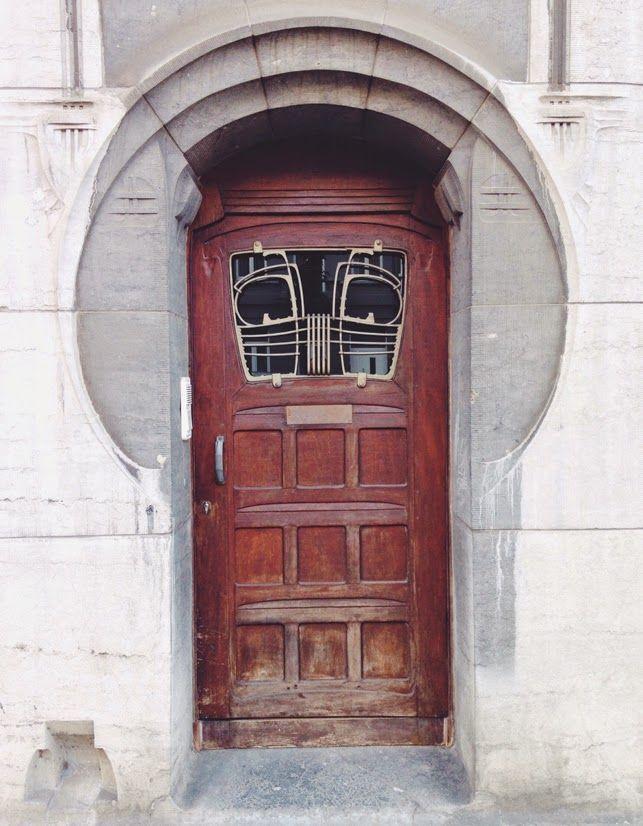 Art Nouveau Front Door Antwerp on  you have been here sometime