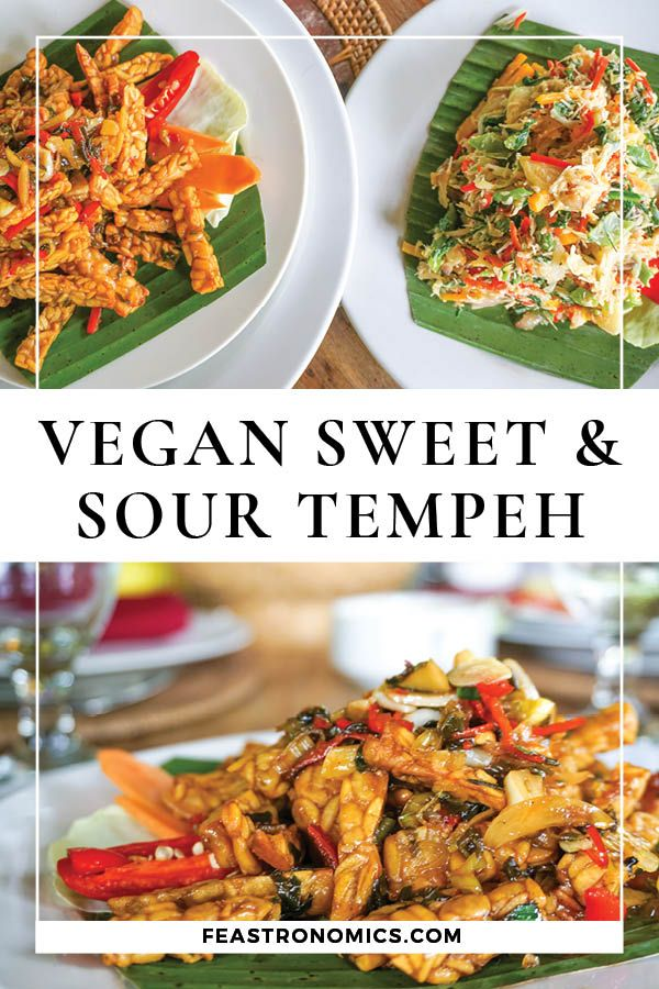 Indonesian Style Sweet And Sour Tempeh Kering Tempeh Recipe