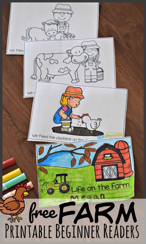 Farm Printable Beginner Reading Books Beginners Reading Books