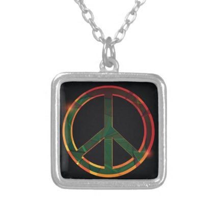 freedom symbol silver plated necklace - jewelry jewellery unique special diy gift present