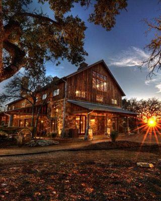 Repurposed barn homes- Kendalia Barn Event Venue