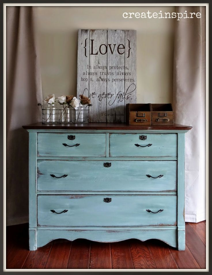 {createinspire}: Antique Oak Chest of Drawers