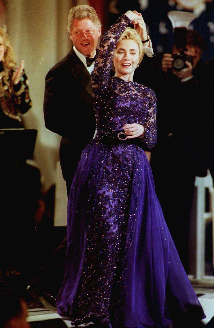 Hillary and Bill Clinton in Little Rock, Arkansas, 1991.