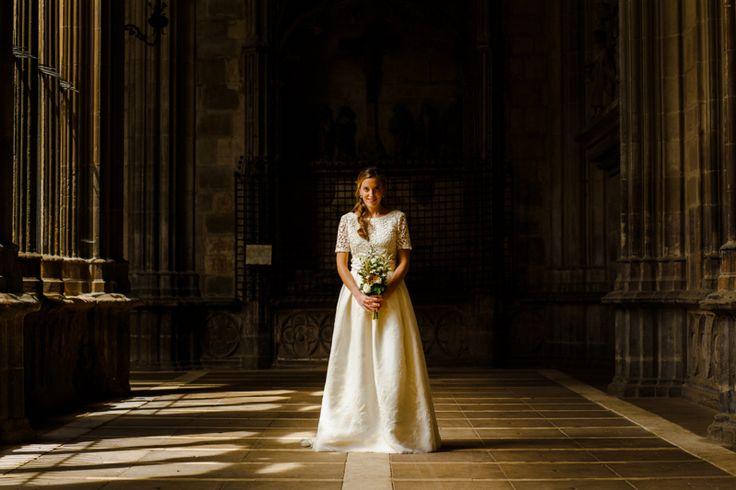 Retrato de la novia, Verónica en el claustro de la Catedral de Pamplona