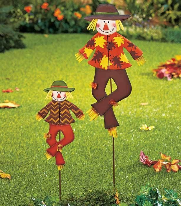 Scarecrow Fall Thanksgiving Decoration Outdoor Yard Garden Lawn Metal Art Home #DoesNotApply