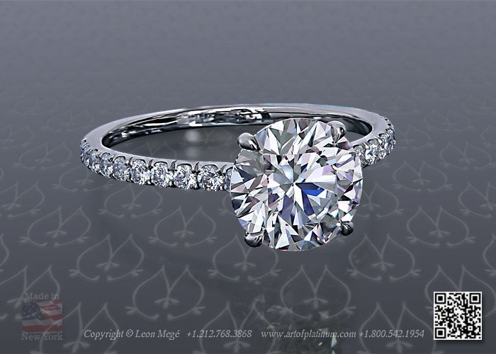 1.5 carat round solitaire engagement rings with diamond band - Google Search