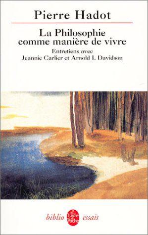 La Philosophie comme manière de vivre de Pierre Hadot http://www.amazon.fr/dp/2253943487/ref=cm_sw_r_pi_dp_sDwkvb1RPF629