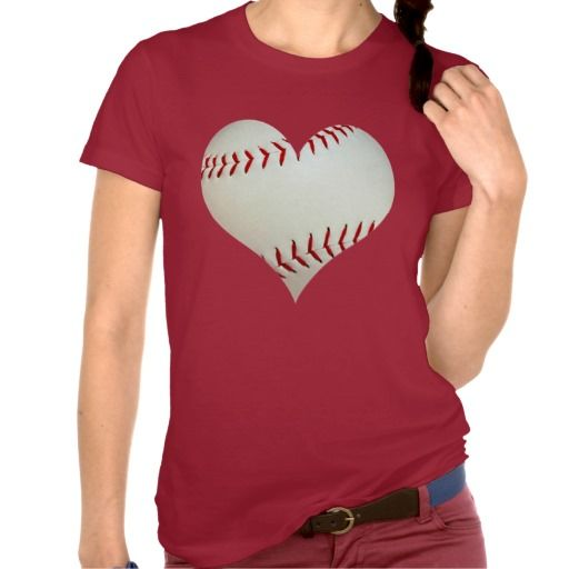 American Baseball In A Heart Shape T Shirt