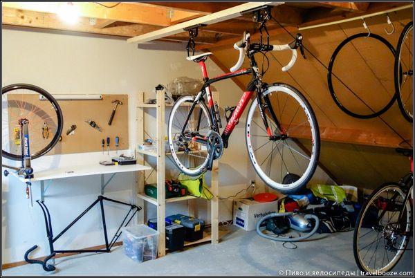 Хранение велосипедов по-голландски. Больше фото в статье