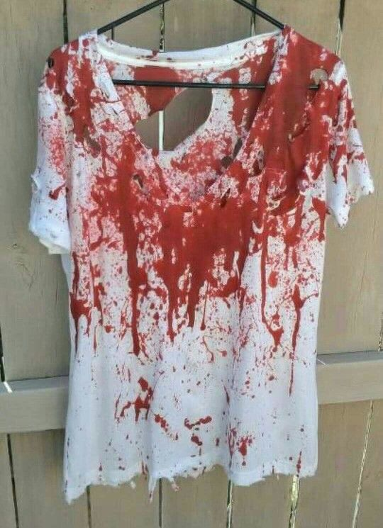 Halloween bloody zombie shirt                                                                                                                                                                                 More