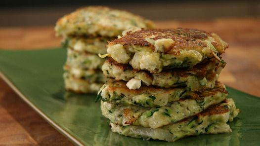 Zucchini, Mint and Feta Fritters from Janella Purcell - flour-free