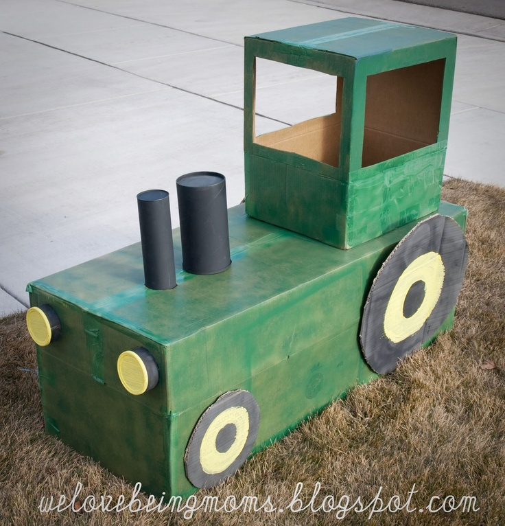 111 best cardboard art projects for children images on for Tractor art projects