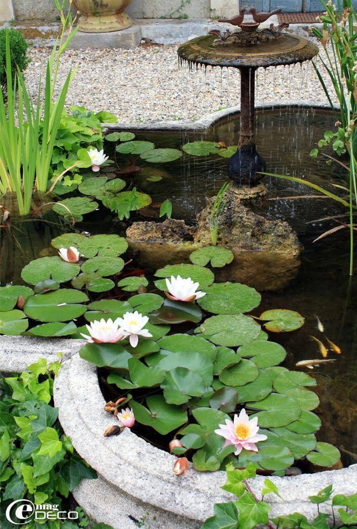 1000 id es sur le th me fontaine en pierre sur pinterest for Bassin de jardin en pierre