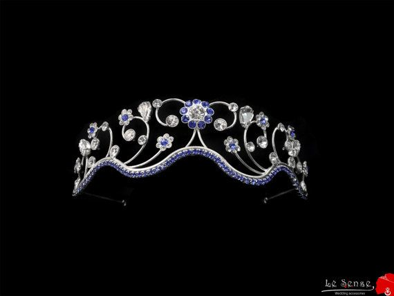 Unique handmade tiara crown with wire, princess tiaras for wedding , crystal tiara for order inlaid with tear drops SWAROVSKI Crystals