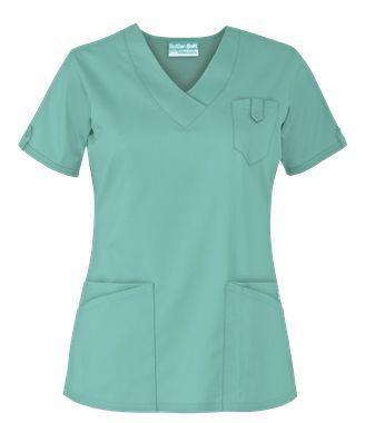 UA Butter-Soft STRETCH Scrubs V-Neck 5 Pocket Top - Style # BSS689 #newmedicalscrubs #uniformadvantage #uascrubs #adayinscrubs #buttersoftscrubs #stretch #scrubs #nursing #dental #veterinary