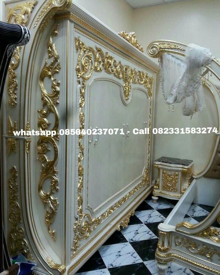 Master Bedroom klasik Alexandria Kanopi , Penyetelan dirumah customer satu set bedroom kanopi Alexandria.