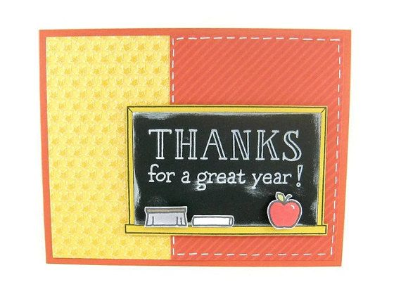 teacher thank you card teacher thanks end of school year