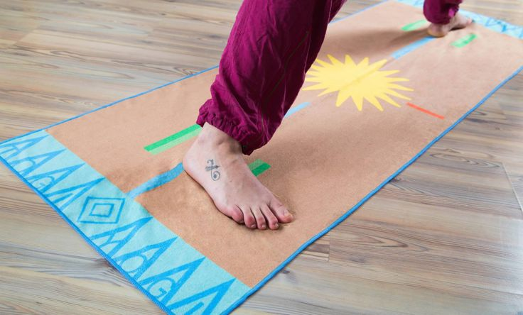 We make the TOGI towel! A 100% Microfiber Yoga Sports Towel  Travel Mat uniquely designed for Yogis to help improve focus, form  alignment. Visit us at www.togiyogi.com to learn more and shop online!   ♥Togi Yogi