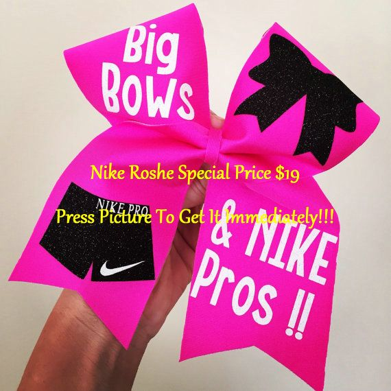 BIG Bows Nike pros Spandex Cheer Bow by TalkToTheBow on Etsy