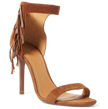polo  shiloh fringed suede by Ralph Lauren. With a sexy 4-inch heel and a bit of fringe, this Italian-made suede sandal exudes modern boho chic. Style it with ra...