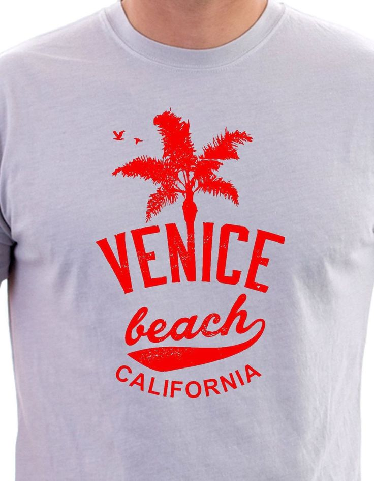 Venice Beach California print T-Shirt, Venice Beach print, T-Shirt with Venice Beach Californis logo, Venice Beach California T-Shirt logo. by LittleMonkeyCasuals on Etsy